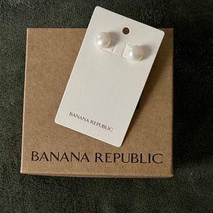 NWT pearl earrings from Banana Republic